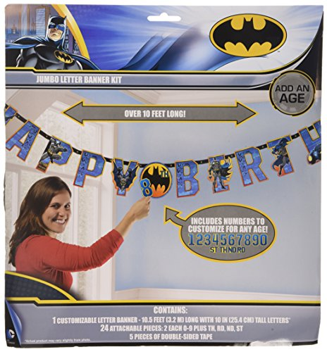 Batman Jumbo Add-An-Age Letter Banner - 1