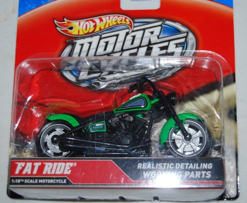 Hot Wheels 2012 Motorcycles Fat Ride 1:18th Realistic Detail