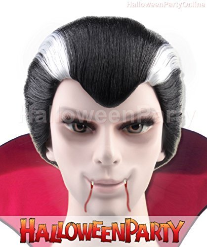 Halloween Party Online Vampire Men Wig Black White Costume Cosplay Idea HM-043