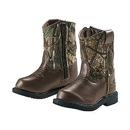 Legendary Whitetails Toddler Boys Lil Dustin Cowboy Boots Dark Brown 9