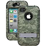 TRIDENT AMS-IPH4S-GRBC Kraken Ams Case with Holster for iPhone 4/4S - 1 Pack - Retail Packaging - Green Camo