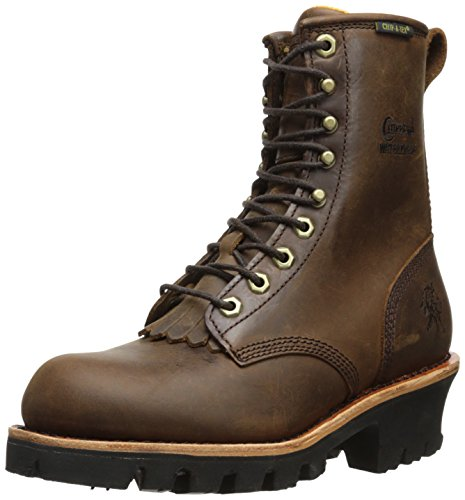 Chippewa Men's 8 Inch Bay Apache WP Insulated Logger Rugged Boot