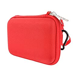 Khanka Hard Storage Carrying Travel Case Bag for Polaroid ZIP Mobile Printer-Red