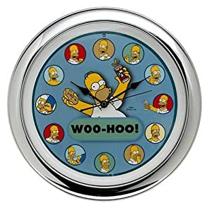 Amazon Com The Simpsons Homer Talking Wall Clock Home