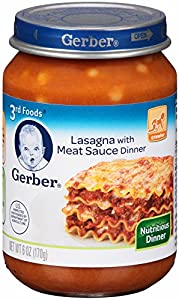 Gerber 3rd Foods Lasagna with Meat Sauce, 6-Ounce (Pack of 12)