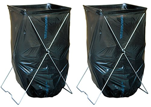 Bag Caddy - Portable Bag Stand ready 33 to 39 Gallon Bags (2 Pack), 52F6