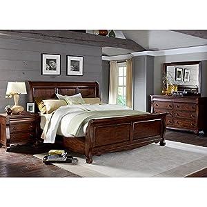 sinclair sleigh bedroom set king