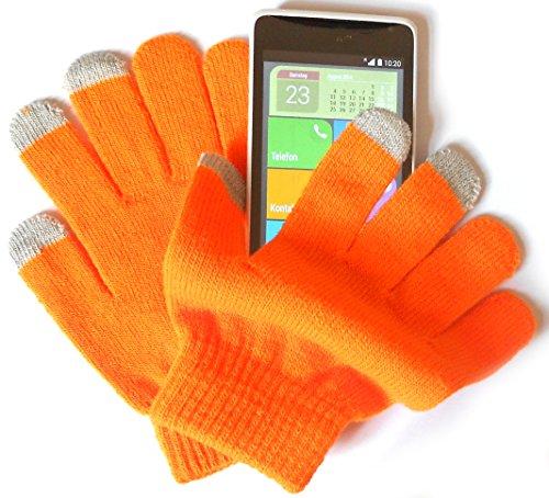 preskin-handschuh-kleine-grosse-mit-smartphone-funktion-4gloveuniorange-fur-damen-kids-teenager-neon