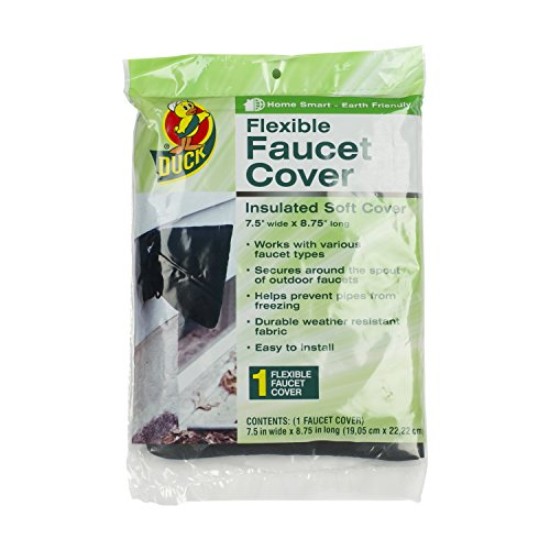 Duck Brand 280462 Insulated Soft Flexible Faucet Cover for Freeze Protection, 7.5 by 8.75-Inch Insulated (Window Winter Insulation Kit compare prices)