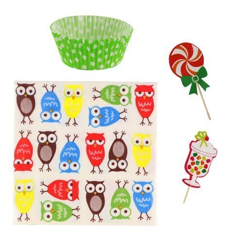 Owl Cupcake Party Pack (pack of 1 EA)