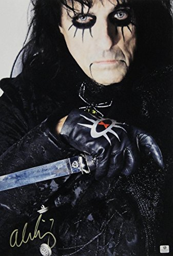 "Alice Cooper Signed Autographed 13""X19"" Photograph Holding Knife/Sword Ga Coa"