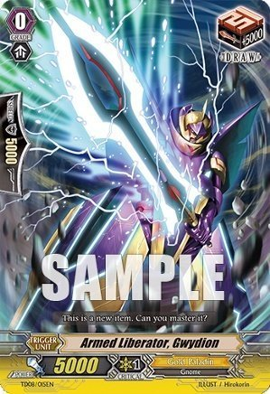 Cardfight!! Vanguard TCG - Armed Liberator, Gwydion (TD08/015EN) - Trial Deck 8: Liberator of the Sanctuary by Bushiroad Inc.