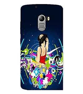 PrintDhaba Music Girl D-1148 Back Case Cover for LENOVO K4 NOTE A7010 (Multi-Coloured)