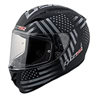 LS2 Arrow Old Glory Full Face Motorcycle Helmet (Black/Gray, X-Large) from LS2