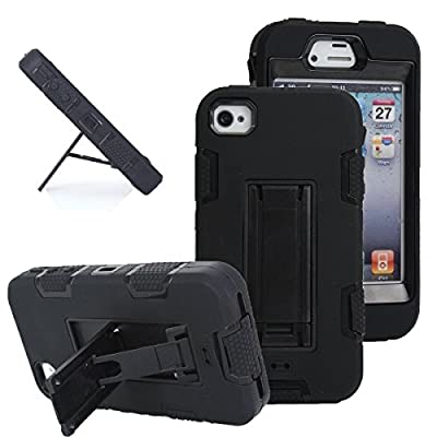 iPhone 4s case, iPhone 4 case, Robot Series Hybrid Armored Case with Kickstand for Apple iPhone 4/4S by Barken