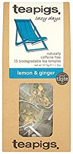 Teapigs Lemon and Ginger Tea 37.5 g (Pack of 1, Total 15 Tea Bags)