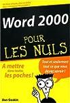 Word 2000 pour les nuls