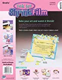 Grafix KSF6-WIJ 8-1/2-Inch by 11-Inch Shrink Film, Printable, White Inkjet, 6-Pack