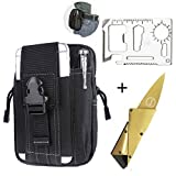 Tactical Pouches EDC Waist Bag Molle Pouch Tool Organizer Fanny Packs with Phone & Tactical Pen Holder,Credit Card Tool 11 in 1 Wallet Tool,Folding Card Knife,3 Type/Set Tactical Gear