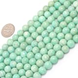8mm Round Gemstone Brazilian Amazonite Beads Strand 15 Inch Jewelry Making Beads