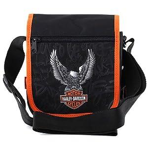 harley davidson cartable sacoche 24 cm multicolore noir orange bagages. Black Bedroom Furniture Sets. Home Design Ideas
