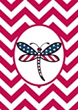 Toland Home Garden  Patriotic Dragonfly Red 12.5 x 18-Inch Decorative USA-Produced Garden Flag