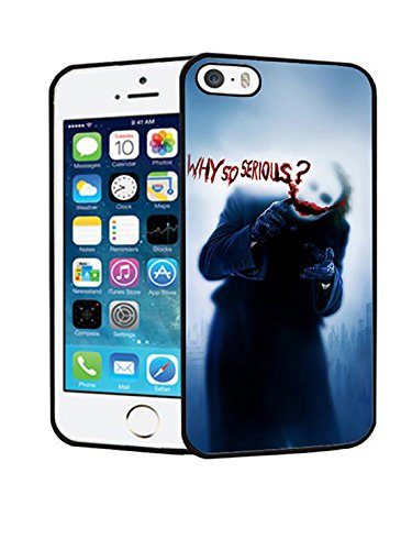 Hard Custodia Case for Iphone 5 - Joker Smile Why So Serious Quirky Cool Pattern with Ultra Sottile Style Protect Iphone 5 / 5s / SE with Joker Smile Why So Serious Design for Women