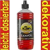 Lampenöl Paraffinöl Paraffin 1Liter rot