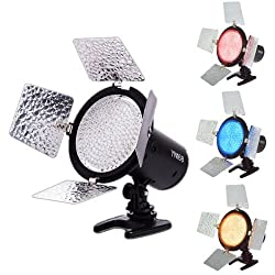 Yongnuo YN-168 YN168 LED Video Light Camcorder for Canon Nikon DSLR Camera AA Battery Compatible With Luminous Chips + The Encoder Digital Dimming + Four Color Temperature Plates