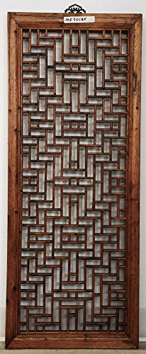 M2Q18X-Antique Asian Screen Carved , Qing Dynasty (1644-1912), China, Antique Asian Decor: Window Sc