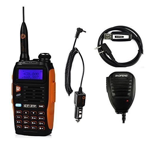 Baofeng Pofung GT-3TP Mark-III Tri-Power 8/4/1W Radio Bidirezionale, Dual Band 136-174/400-520 MHz Ricetrasmittente, 8W High Power Two-Way Radio, Speaker Remote & Cavo di Programmazione Incluso