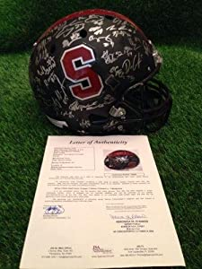 Stanford Cardinals Team Signed Full Size Replica Helmet loa Ncaa Auto - JSA Certified... by Sports Memorabilia