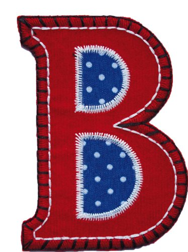 Kids Patches - Trickyboo B Attitude 4-5Cm - Iron On Letter-Iron On Block Letters For Nursery-Cotton Letters-Clothing Letters-Toddler Gifts front-60347