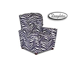 Dozydotes Zebra Child Recliner Chair with Cup Holder