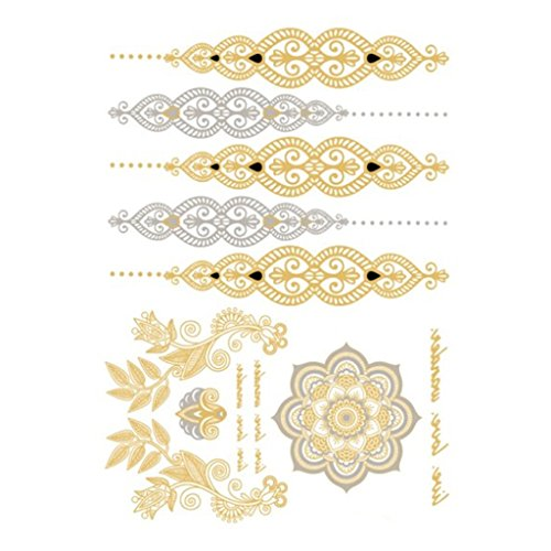 waterproof-removable-body-art-temporary-tattoo-sticker-silver-gold-tattoo-sheet