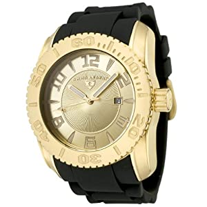 Mens 20068-YG-10 Commander Collection Yellow Gold Ion-Plated Gold Dial Watch