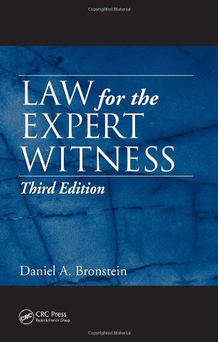Law for the Expert Witness, Third Edition