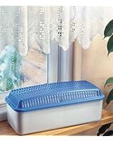 Absorbeur-humidivore déshumidificateur de pièces, 700 g, 27 x 11,5 x 10,5 cm, bleu-gris