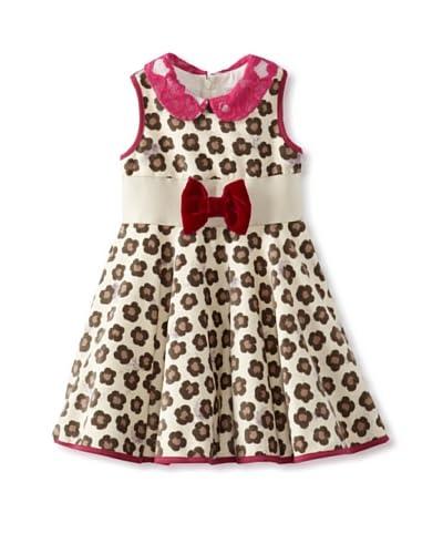 Monnalisa Girl's Velvet Dress  [Spotted]