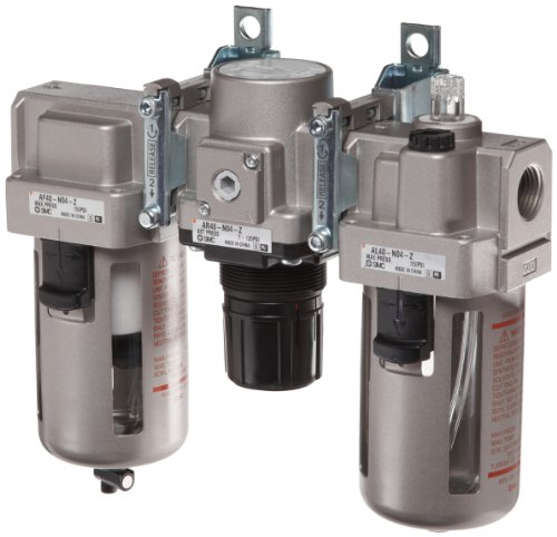 SMC AC Series 3 Piece Filter/Regulator/Lubricator, 1/2