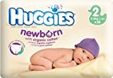 HUGGIES NEWBORN SIZE 2 (3-6kg 7-13lbs) WITH ORGANIC COTTON 35 NAPPIES