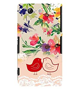 PrintVisa Stylish Cool Girl Cute 3D Hard Polycarbonate Designer Back Case Cover for Sony Xperia Z4 Mini :: Compact