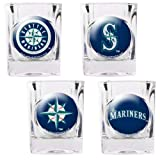 Seattle Mariners 4 Piece Assorted Shot Glass Set Amazon.com