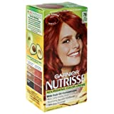 Garnier Nutrisse Nourishing Color Creme with Fruit Oil Concentrate, Rich Auburn Blonde 76 (Pack of 3)