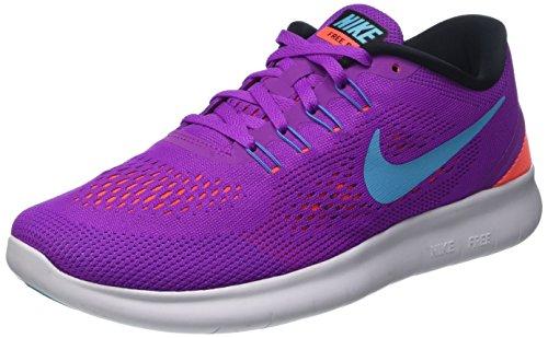 Nike Free Run, Scarpe Running Donna, Viola (Hyper Violet/Black/Total Crimson/Gamma Blue), 39 EU