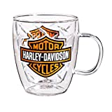 Harley-Davidson Bar & Shield Glass Blown Coffee Cup