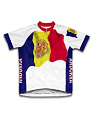 Andorra Flag Short Sleeve Cycling Jersey for Women