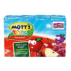 Mott's for Tots, Fruit Punch, 6.75-Ounce Boxes (Pack of 32)