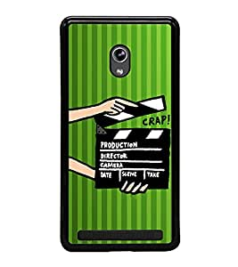 ifasho Designer Phone Back Case Cover Asus Zenfone 6 A600CG ( Green Pilot Air Hostess Aviator Colorful Pattern Design )