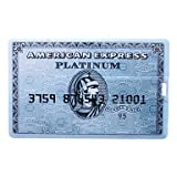 8GB USB Flash Drive Blue Card American Express Typed